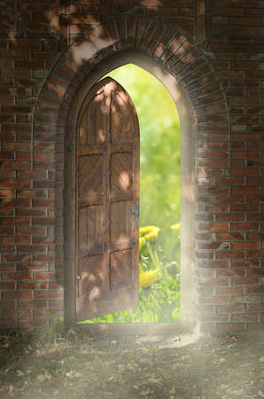 Door to new world  The door to paradise  photo