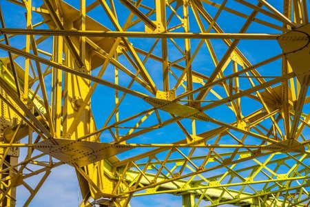 Yellow metal work Drypool bridge is a Scherzer-type rolling bascule bridge, constructed in 1961