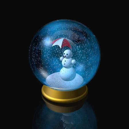 snowdome: snowglobe Stock Photo