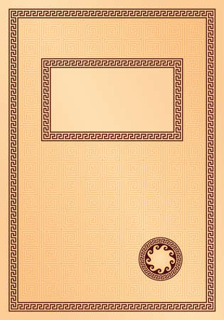 title or cover page in greek style  Vector