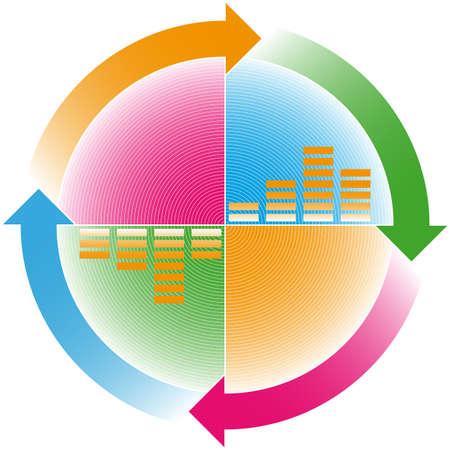 ñolorful cyclic arrows Illustration