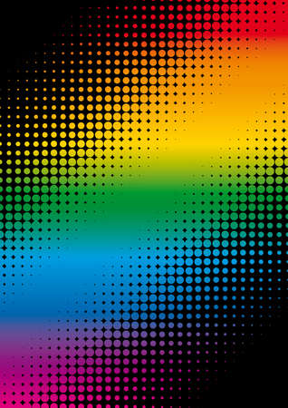 package printing: rainbow dots background