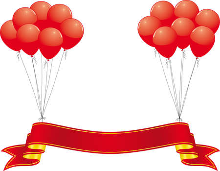 balloon border: celebration banner Illustration