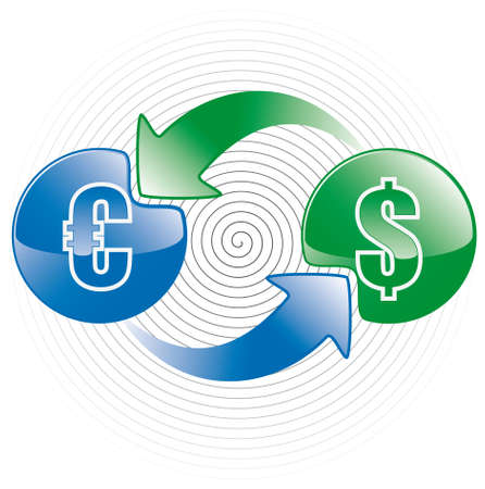money exchange: money exchange icon Illustration