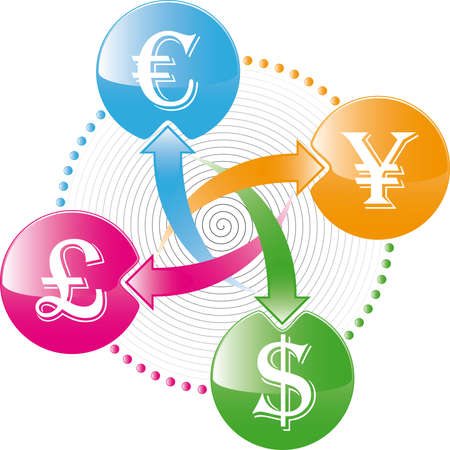money exchange: world money exchange icon Illustration