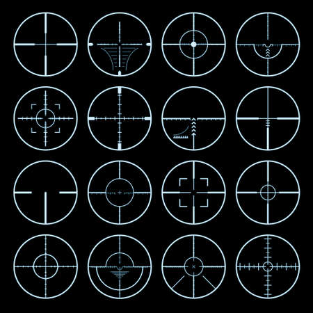 crosshairs set Stock Vector - 5377338
