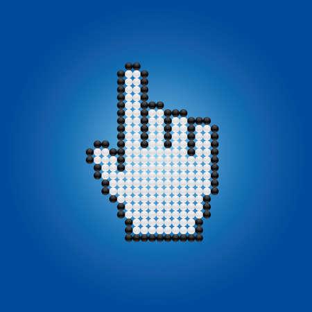 cursor hand Stock Vector - 5377363