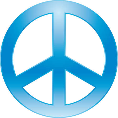 protest signs: peace symbol