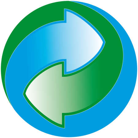 environmentalist label: Green Dot packaging symbol