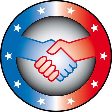partners: handshake (partnership concept) Illustration