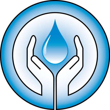 waterdrop and hands Vector