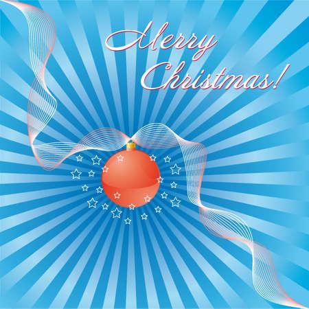 Merry Christmas (editable greeting card) Vector
