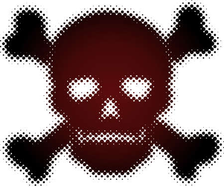 halftone skull (halftone design element set) Vector