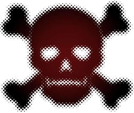 halftone skull (halftone design element set) Stock Vector - 5377368