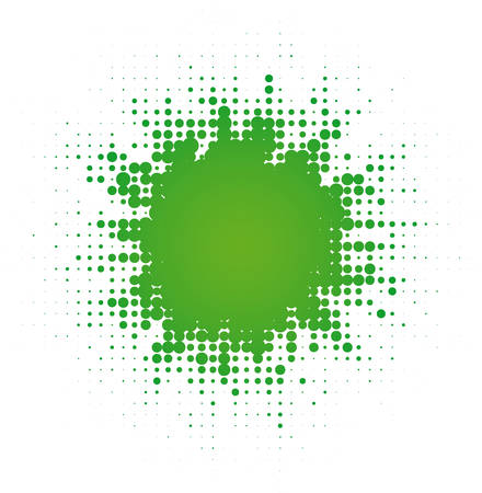 abstract digital blob (dotted design series) Vector