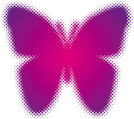 butterfly (from dots design series) Vector