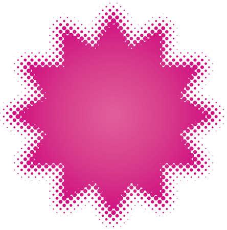 purple star (from dots design series) Vector Illustration