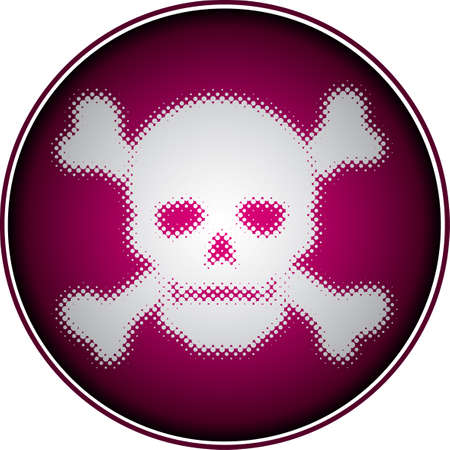 skull (halftone design element set) Vector