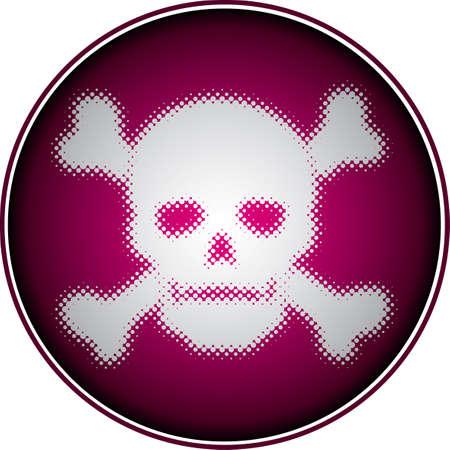 skull (halftone design element set) Vector
