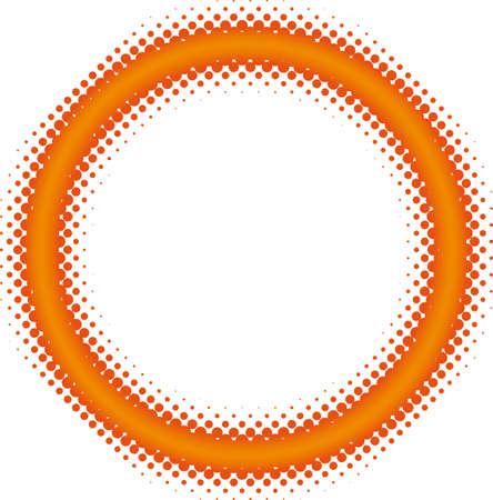halftone frame Vector