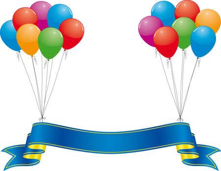 fondo de graduacion: bandera celebraci�n y coloridos globos