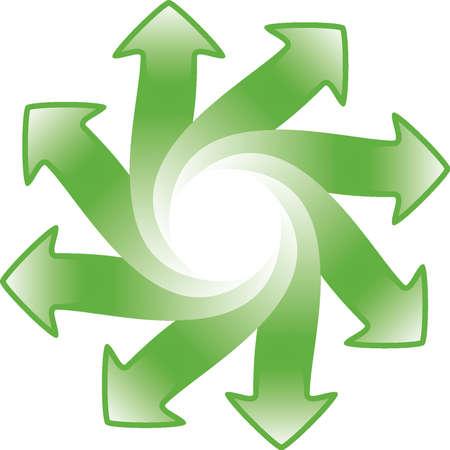 arrows wheel with space for logo Vector