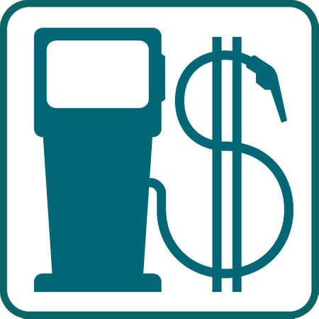 símbolo de bomba y el dólar de gas