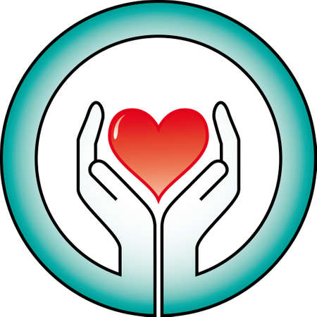 hands and heart Stock Vector - 5566942