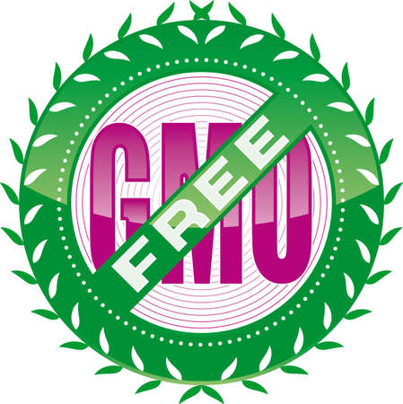genetically modified crops: editable GMO-free sign