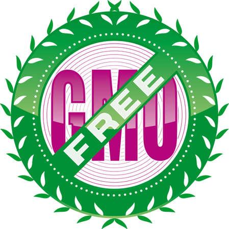 editable GMO-free sign Stock Vector - 5566946