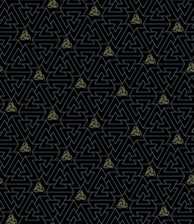odin`s seamless texture (Knot of the Slain and Triple Horn - symbols of Odin)