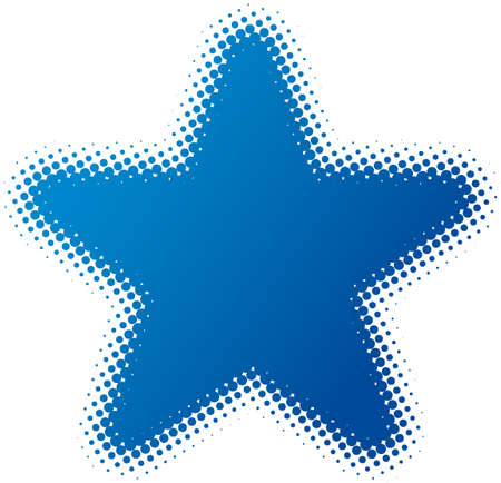 star (dotted design series) Vector