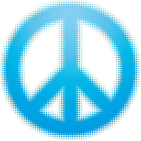 pacifist: peace symbol (dots design series) Illustration