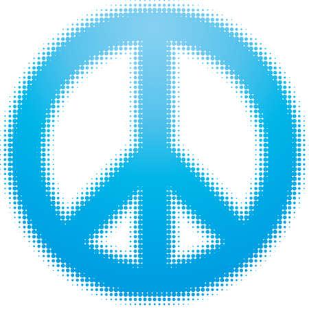 simbolo paz: s�mbolo de la paz (serie de puntos de dise�o)