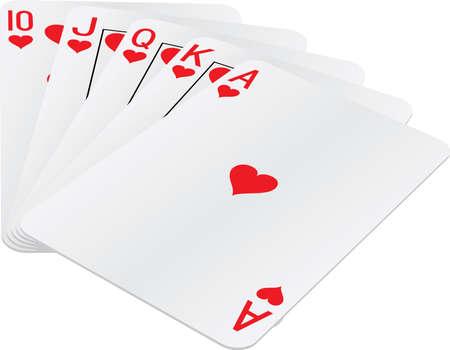 cartas de poker: Escalera real de mano