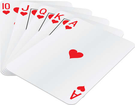 games hand: Royal Flush hand Illustration