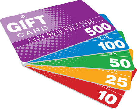 plastic card: Color Gift Cards