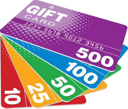 Color Gift Cards  Vector