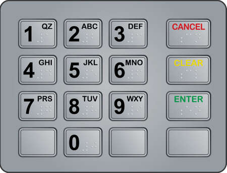 keypad of an automated teller machine Vector