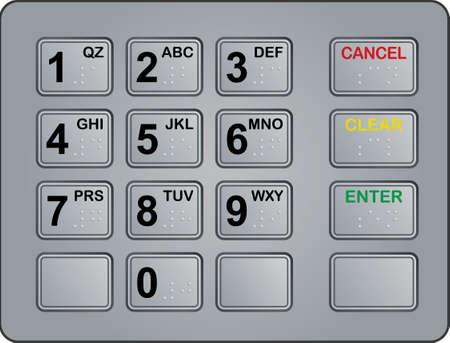 teclado de un cajero autom�tico  Foto de archivo - 5665853