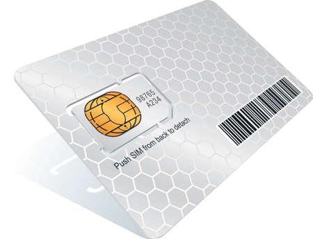 transporteur: Carte SIM avec transporteur  Illustration
