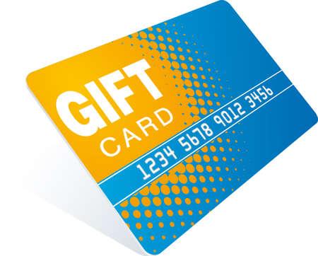 prepaid card: orange-blue gift card