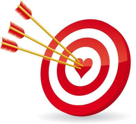 target love Stock Vector - 6292834