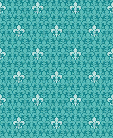 baroque room: Turquoise vector background