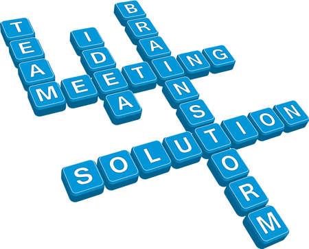 business crossword (format) Stock Vector - 6438246