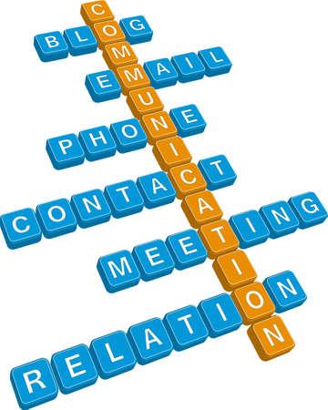 acquaintance: crucigrama de comunicaci�n (editable)