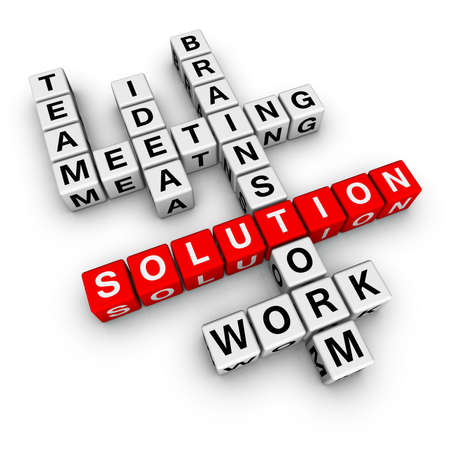 solution  (from crossword series) Stock Photo - 6523524