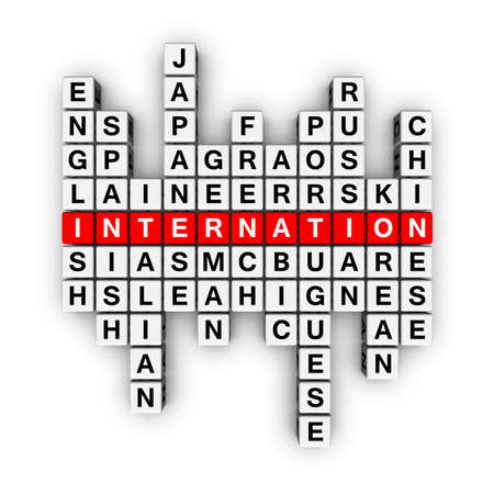 crossword: languages  (from crossword series) Stock Photo