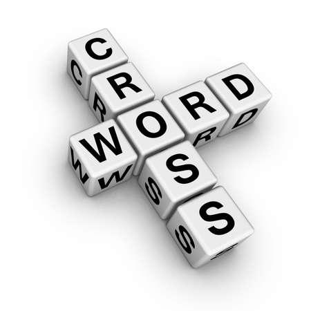 crossword: crossword symbol (from crossword series) Stock Photo