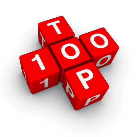 better icon: top 100 (from crossword series) Stock Photo